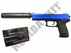 MK23 Gas BB Gun H&K USSOCOM Replica Airsoft Pistol Black & 2 Tone Colours